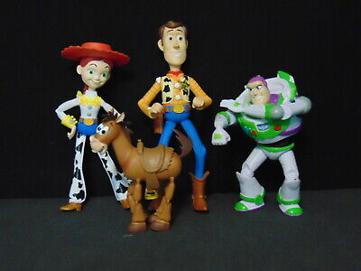 """Group Of 4 Toy Story Figures ~ 4"""" - 6.5"""""""