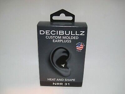 Decibullz Custom Molded Earplugs - Heat And Shape Nrr 31 Black