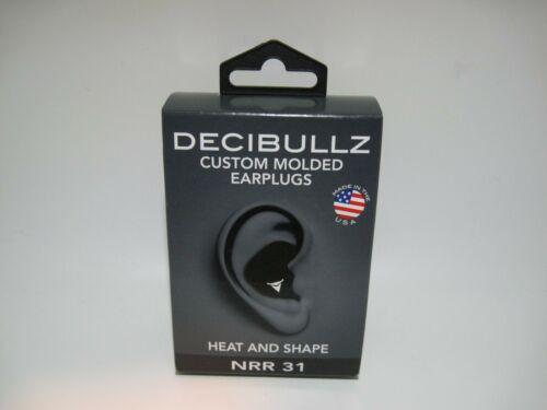 Decibullz Custom Molded Earplugs - Heat and Shape NRR 31 Black