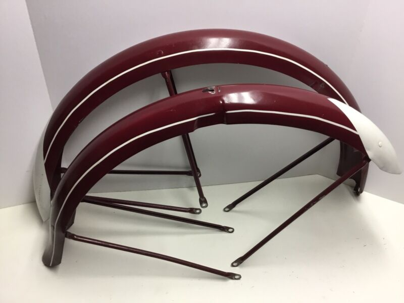 "Vintage 1940/50s Schwinn 26"" 2.125"" Balloon Tire Fenders S2 Hornet DX Bike"