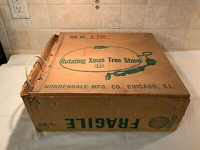 """Vintage Nordendale Motorized Christmas Tree Turner Rotating Spinning Stand 14"""""""