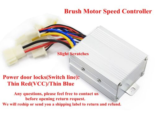 US 24V 500W Brush Motor Speed Controller For Electric Bicycle Scooter Bike