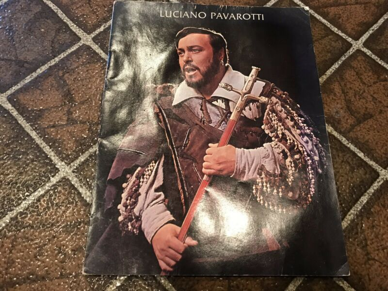RARE Luciano Pavarotti 1977 Photo Book plus Program from Blossom Music Center