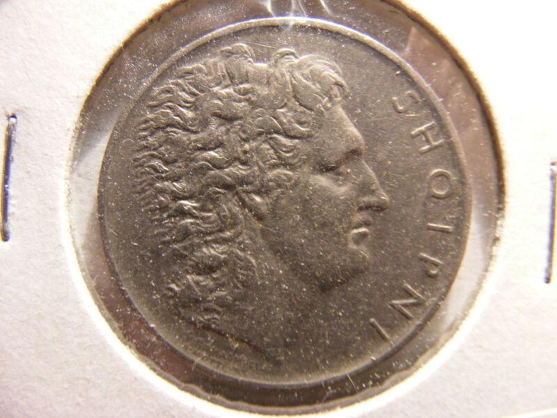 Albania 1927-R, 1 Lek, XF, KM#5