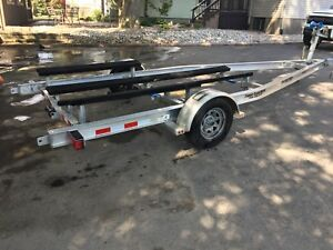 Like New Ameratrail aluminum bunk boat trailer