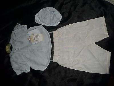DESIGNER BABY BOYS OUTFIT 12-18 MTHS IRISH LINEN COLLINS & HALL RRP £110.80% OFF