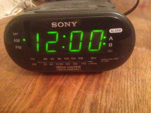 SONY Black Alarm Clock Radio ICF-C318 Dual Alarm FM/AM