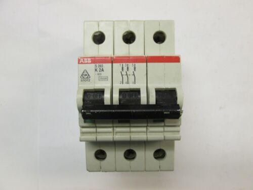 * ABB Circuit Breaker Cat# S 283-K2A ... 2A ... 277/480 .. 3P .. UA-56