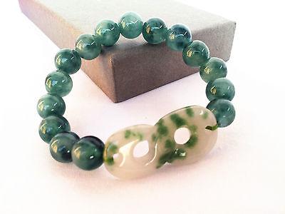 Feng Shui Green Jade lucky number 8  Bracelet  for prosperity wealth & abundance