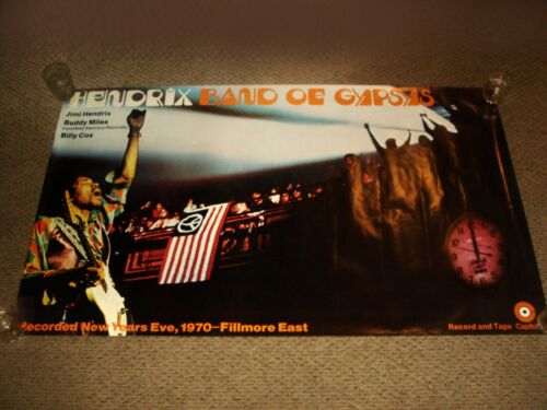 Vintage JIMI HENDRIX BAND OF GYPSYS 1970 CAPITOL RECORDS PROMO POSTER - HUGE
