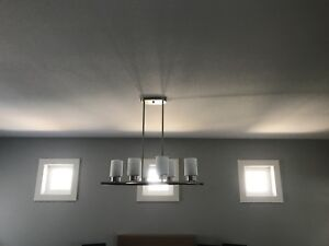 Lights -chandelier and 3 pendents