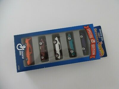 Hot Wheels General Mills 1997 Designer Collection 5-Pack Special Edition new