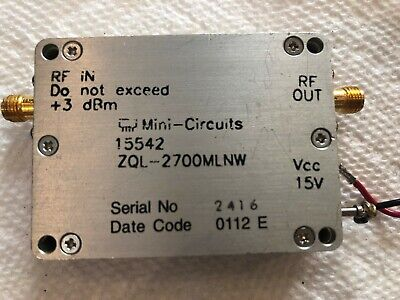 Mini-circuits Zql-2700mlnw Low Noise Amplifier 2.2 To 2.7 Ghz