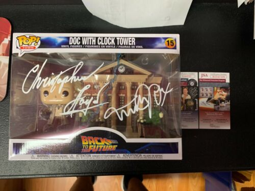 Michael J Fox Christopher Lloyd Dual Signed Funko Pop JSA Back to the Future