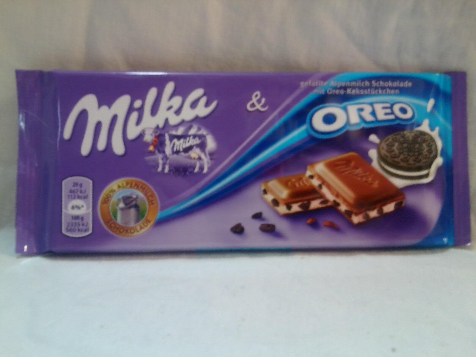 10 Tafeln Milka Alpenmilch Schokolade mit Oreo gefüllt zu je 100g