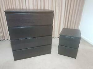 MALM Ikea drawers tallboy & bedside - Delivery available