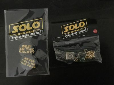 Han SOLO: A STAR WARS STORY AMC Exclusive Lucky Dice Button Set fan event