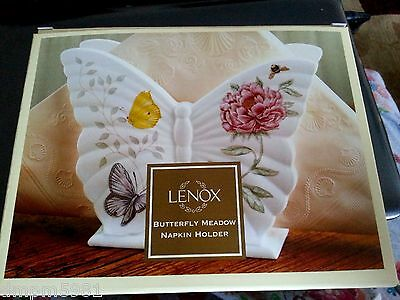 Lenox Butterfly Meadow Napkin Holder Porcelain NEW IN BOX