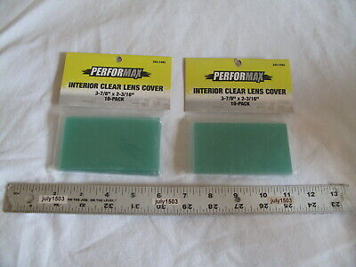 20 New Interior Clear Replacement Lens Cover 3-78 X 2-316 Welding Helmet