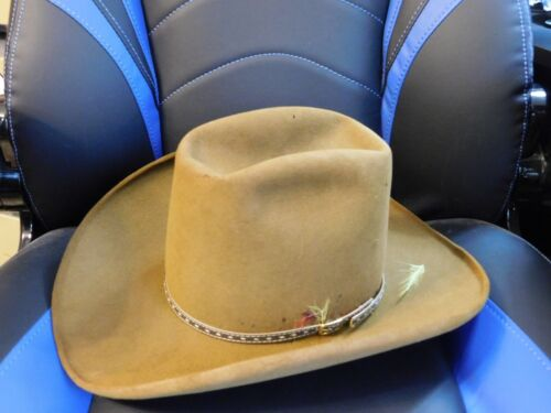Vintage Stetson Brown Western Hat 4X Beaver 6 and 7/8