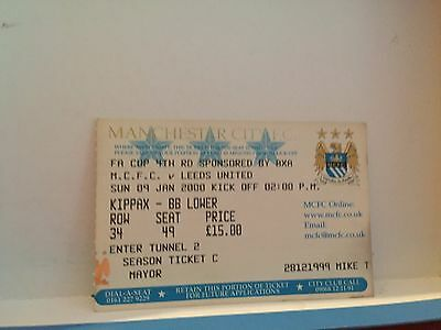 Football Ticket - UEFA - Manchester City FC - Leeds United - 2000