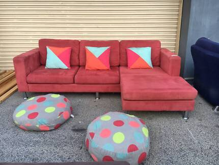DELIVERY TODAY COMFORTABLE L shape corner sofa lounge QUICK SALE