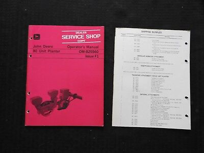 Genuine 1971-1972 John Deere 80 Unit Planter Operators Manual Very Good Shape