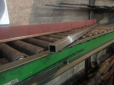 34 X 34 X .065 Stainless Square Tube 180 Grit 30 Length