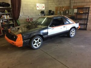 1979 Mustang pace car rolling chassis