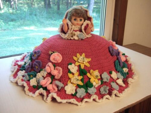 Vintage Crochet Bed Pillow Doll