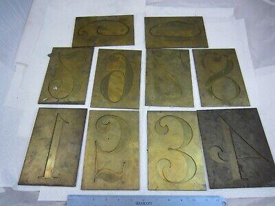 Large 6 Brass Engraving Font Number Set 0 - 9