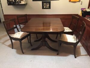 Duncan Phyfe Dinning Room Table And Chair Set