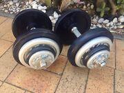 Adjustable Dumbbells set 40kg total All Metal Can Deliver  Mascot Rockdale Area Preview