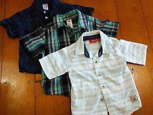 Size 2 - boys shirts - 3 items. Coorparoo Brisbane South East Preview