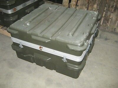 Thermodyne Shock Stop 38x36x20 Single Lid Hard Plastic Shipping Storage Case Grn