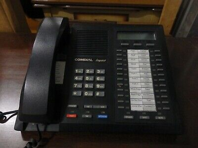 Lot Of 5 Comdial Impact 8024s-gt Black Speakerphone W Display