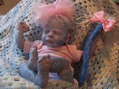 REBORN  BABY Girl MYTHICAL ALIEN ARTIST DOLL OOAK DEITY AVATAR Fairy NEWBORN