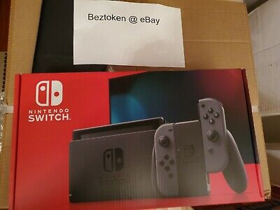 BRAND NEW Nintendo Switch V2 Grey Joy-Con Console, IN HAND SEALED Gray Joy-Cons