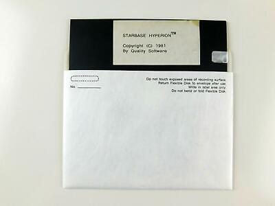 Atari 400 / 800 Computer STARBASE HYPERION Disk by Quality Software