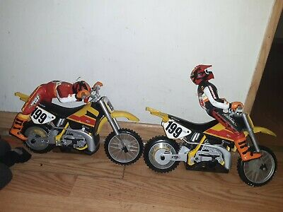 2 Tyco EA Sports  Motorcross RC Dirt Bikes as is FOR PARTS  EXCELLENT CONDITION