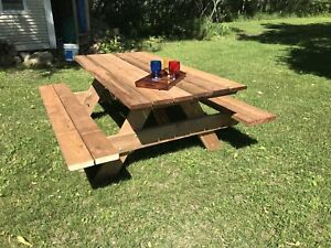 Table à pique-nique 6 pied, bois traité