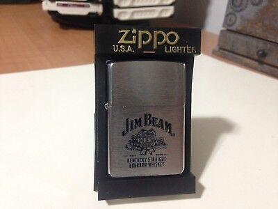 JIM BEAM  Zippo lighter Mint Unfired Orange Seal Kentucky Bourbon Whiskey