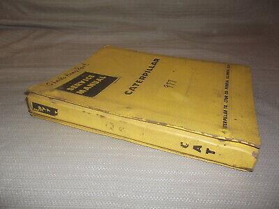 Cat Caterpillar 977 Traxcavator Track Loader Service Shop Repair Manual