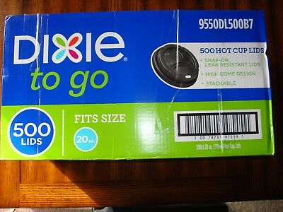 Dixie To Go Hot Cup Lids 9550dl500b7 500 Count Box For 20oz. Cups New