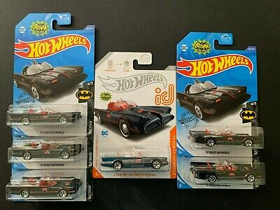 Hot Wheels Batmobile TV Series ID & 5 Batmobile 1/64 Treasure Hunt Card not mint