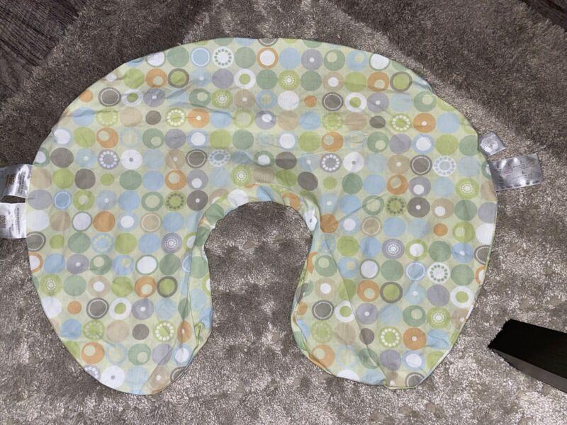 Boppy Pillow Case Slip Cover Unisex Baby Green Polka Dot Newborn Infant VGUC