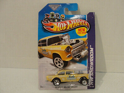 Hot Wheels Showroom ''55 Chevy Bel Air Gasser 2013 Model Gold X