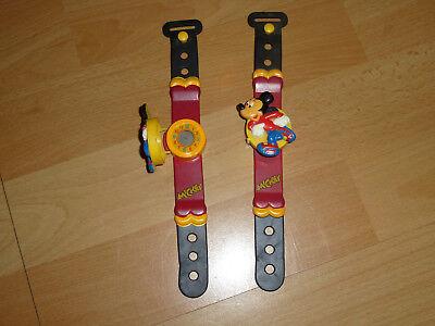2 mal Mickey Maus Uhr  für Sammler Mickey Maus, Werbung,