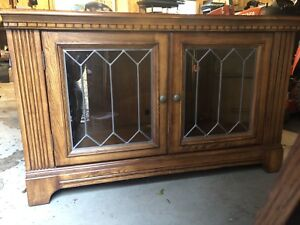Antique solid Oak wood Cabinet, console, sideboard