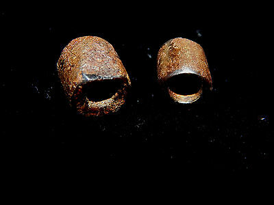 Pre-Columbian Brown Stone Beads, Nicoya, Arachaic, Authentic